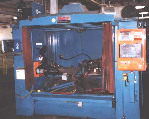 Welding Cell, MELTON NO. 6961, 5-Axis, Single Torch, 18 x 33 x 48.5 Cabinet