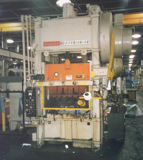 150 Ton NIAGARA SSDC Press, 6 Str, 22 SH, 48 x 36 Bed, 45 to 90 SPM