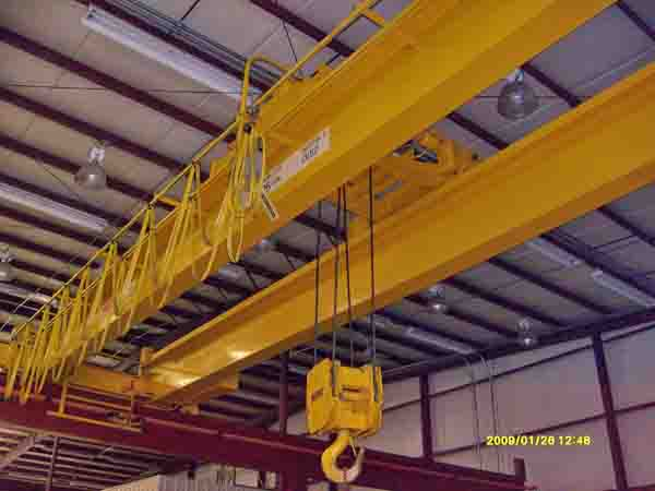 25 Ton SUPERIOR Bridge Crane, 45' Span, 22' Lift, Pendant & Radio Controls