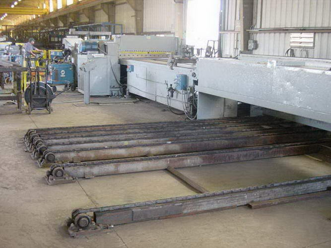 72 x .141 x 25,000 Lb ROWE Cut-To-Length Line, Stacker