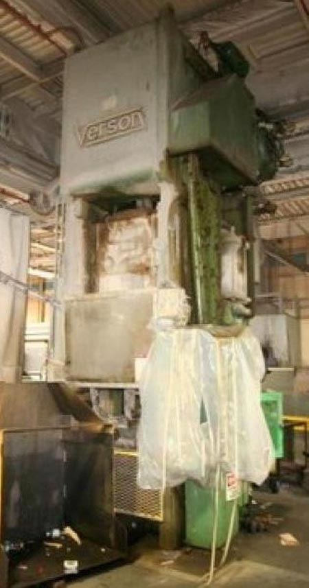 500 Ton VERSON SSSC Press, 10 Str, 6 Adj, 37 SH, 36 x 36 Bed, 35 & 60 SPM