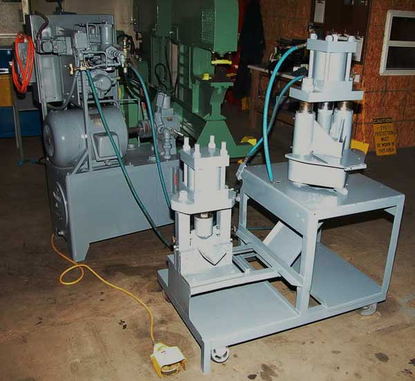 Hydraulic Angle Iron Cutting Station, 6 Corner Notcher, 4 Angle Shear, 15 HP