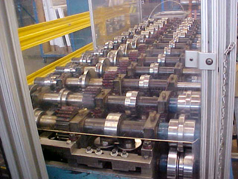 14 STND T & H Triplex Roll Forming Line, 1-1/2 Spdl Dia, 8 / 5-1/2 RS