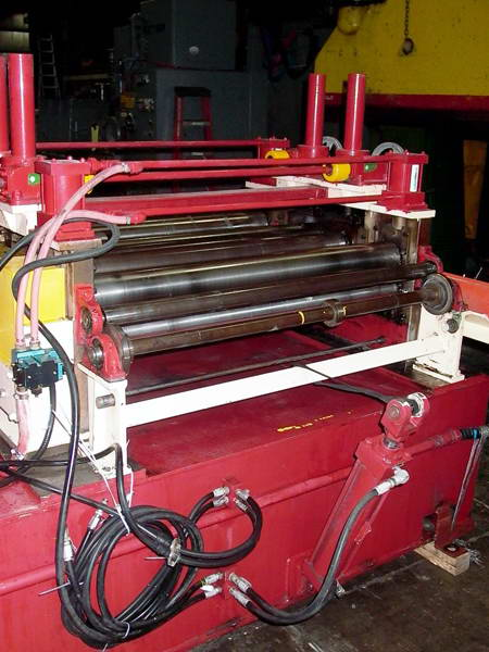 .090 x 50 PROMA 7-Roll Straightener, Entry/Exit Pinch, Cascade Rolls, 15 HP