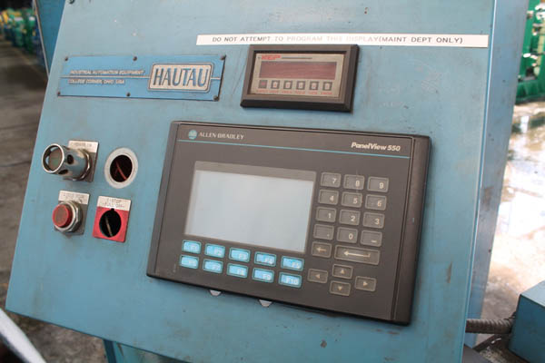 1 1/2 HAUTAU MODEL CC15M DOUBLE END CHAMFER MACHINE, 1995,