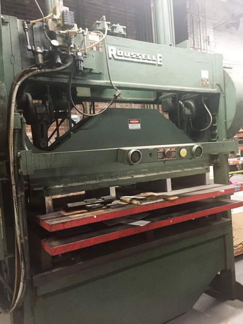 100 Ton ROUSSELLE MODEL 10SS80 SSDC PRESS, 1980, 9 Str., 30 x 80 Bed, 50 SPM