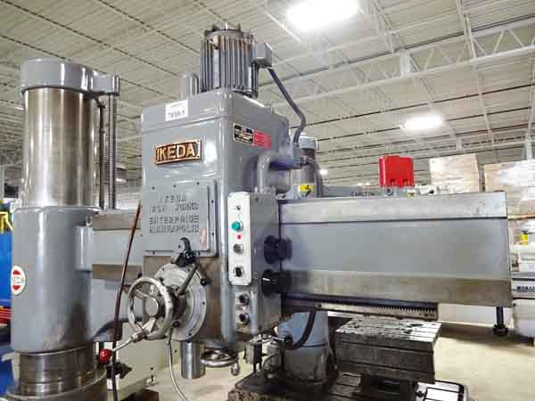 5' x 13 IKEDA MODEL RM1500 RADIAL DRILL, 1976,