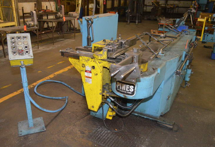 2-1/2 PINES 1-1/4 Hyd Bender, CCW, 8-Pos Turret Stop, Mandrel Extractor, 10 HP