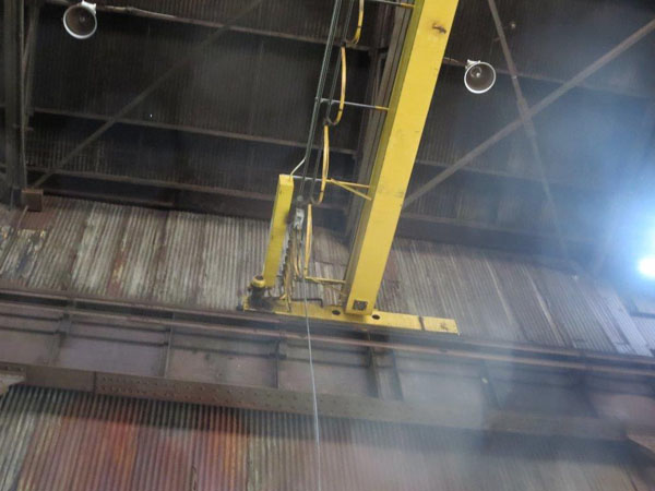 10 Ton ACECO TOP RUNNING SINGLE GIRDER OVERHEAD BRIDGE CRANE, Span 35'6 , 2000,