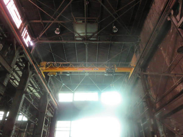 10 Ton KONE TOP RUNNING SINGLE GIRDER OVERHEAD BRIDGE CRANE, Span 35'6 2009,