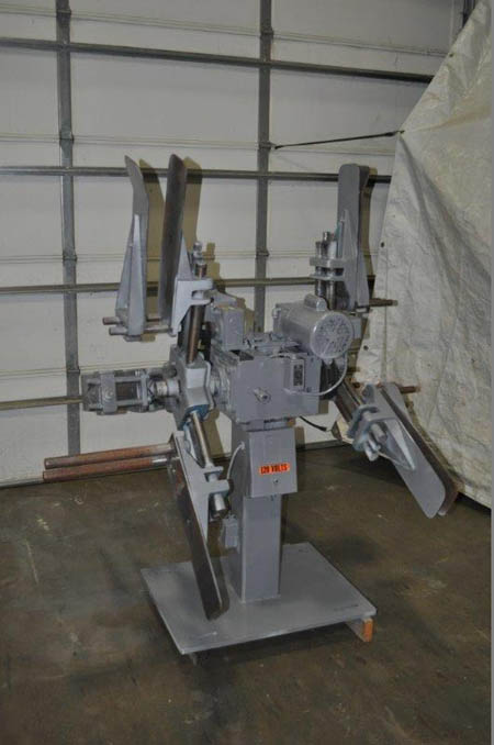 1,500 Lb DURANT Motorized Double End Uncoiler, 10 to 22 ID, 60 OD, 7 Width