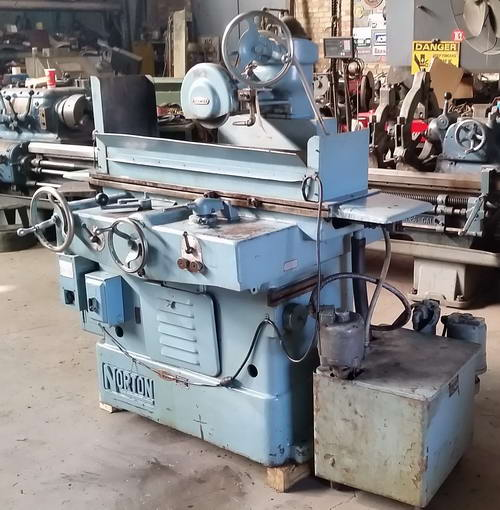 8 x 24 NORTON Horizontal Reciprocating Surface Grinder, 2-Axis Feed, 2 HP