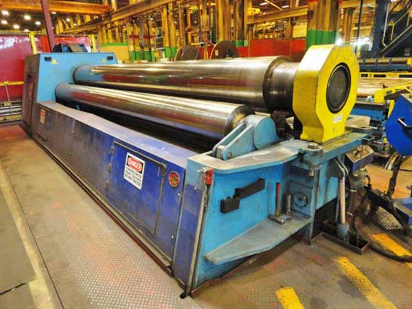 18' x 7/8 HELLER 455/22 CNC 4-Roll Plate Bending Roll, Hyd Drop End, 40 HP
