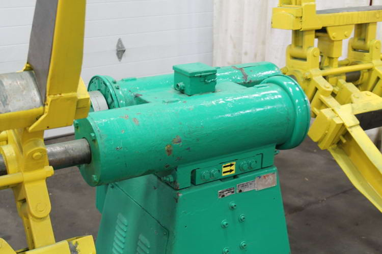2,500 Lb COOPER WEYMOUTH Double End Uncoiler, 18 to 23 ID, 60 OD, 12 Width