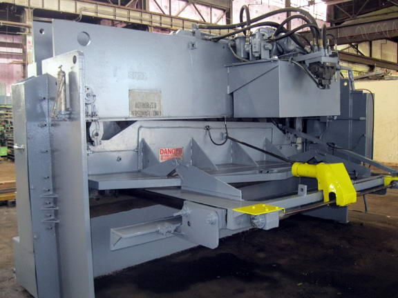 5/8 x 12' HTC 500-12A Hyd Power Squaring Shear, 36 FOPBG, 40 HP