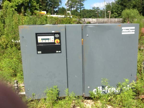 300 CFM @ 125 PSI ATLAS COPCO ZR45 Rotary Screw Air Compressor, 60 HP
