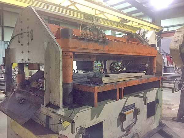80 Ton BARDBURY Cut-Off Press, 1 Str, 27 SH, 5 Adj, 70 FB x 90 LR Bed