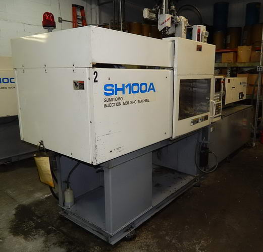 110 Ton SUMITOMO MODEL SH100A INJECTION MOLDING MACHINE, 1997