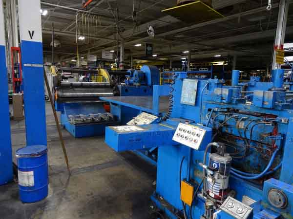 60 x .075 x 20,000 LB. CINCINNATI CUT TO LENGTH LINE, 1976,