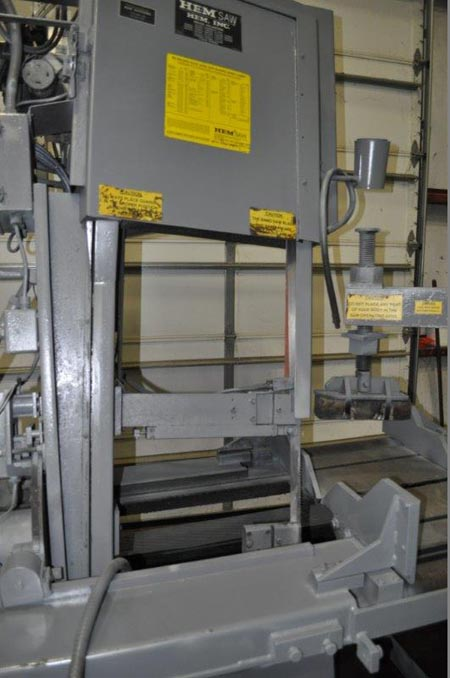 18 x 25 HEM MODEL VT125HA SMAT MITERING VERTICAL BAND SAW, 2000,