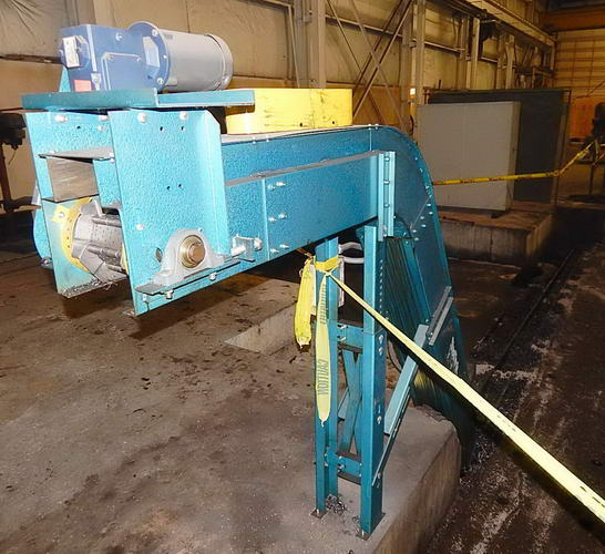 6 W x 21'2 L NEW LONDON Steel Belt Conveyor, 2-1/2 Pitch Hinged, 1/2 HP, 2015