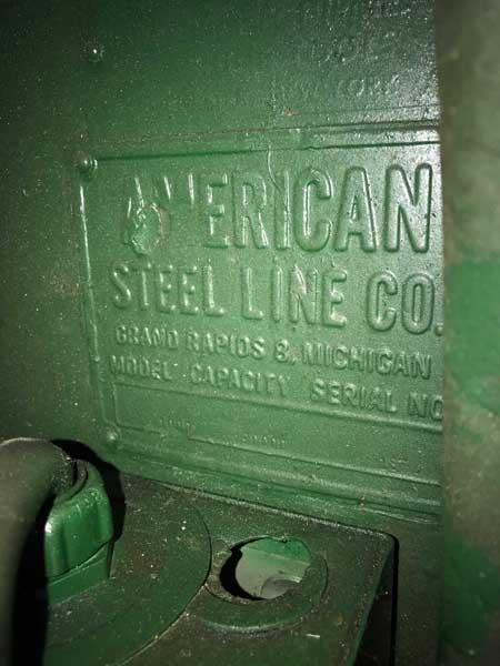 20000 Lb. AMERICAN STEEL LINE MODEL 1000-200M MOTORIZED COIL REEL
