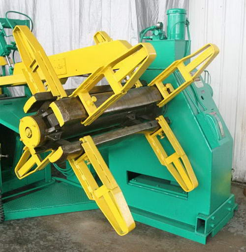 10,000 Lb EGAN Uncoiler, 16 to 20 ID, 60 OD, 36 Width, Peeler, Hold Down