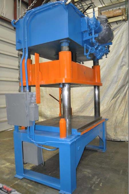 50 Ton KARD Hydraulic Press, 24 Str, 38 Dylt, 86 x 51 Bed, Heat Exch, 25 HP