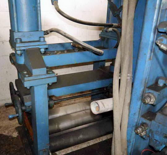 .250 x 24 HERR 2 Over 3 Flattener, Manual Side Guides, 15 HP