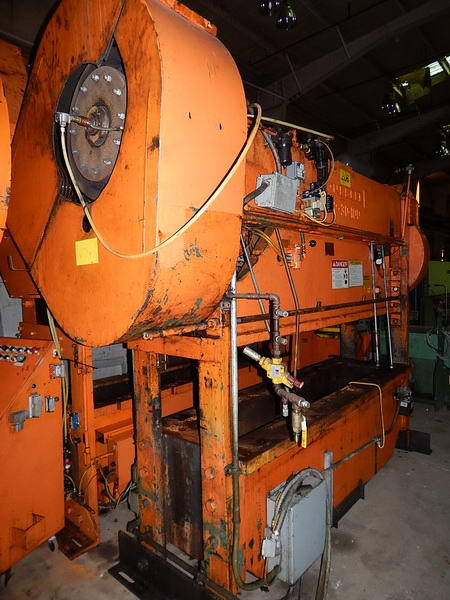 100 Ton ROUSSELLE SSDC Press, 4 Str, 15.25 SH, 100 x 30 Bed, 10 HP