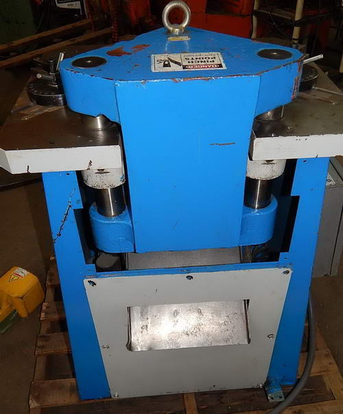 9 Ga x 7.75 x 7.75 PROFAB Notcher, 12 Ton, 50 SPM, 27 x 23.5 Table, 3 HP
