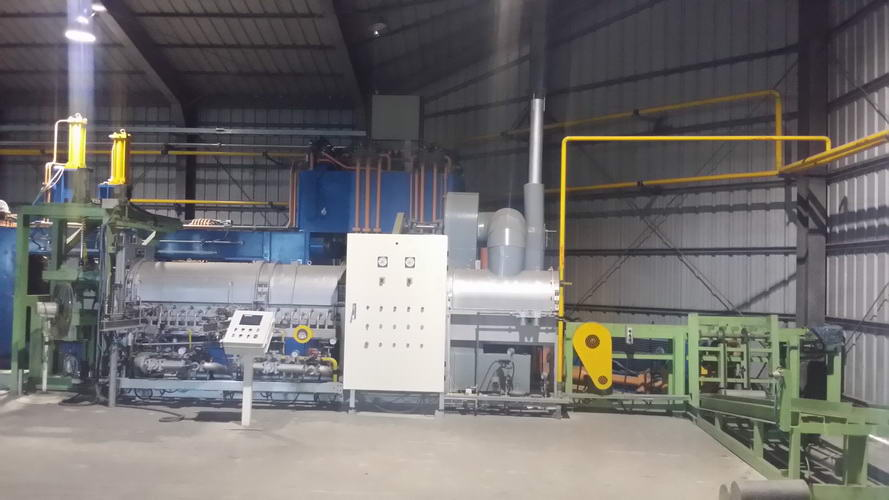 1000 METRIC TON ALUMINUM EXTRUSION PRESS WITH GAS FIRED BILLET HEATER, 2013,