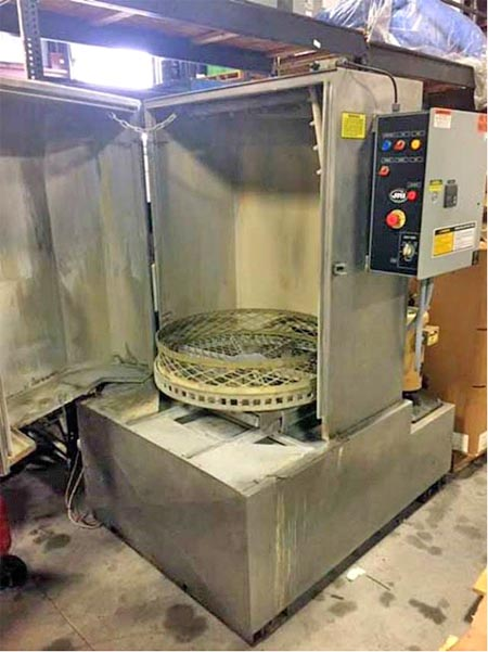 31 Dia x 36 H JRI SS Front Load Table Type Parts Washer, 1,000 Lb Max Weight