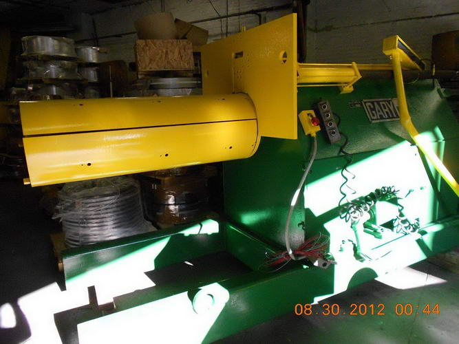 10,000 Lb GARY Recoiler, 20 ID, 48 Width, Hyd Expansion, Drum Push-Off, 40 HP