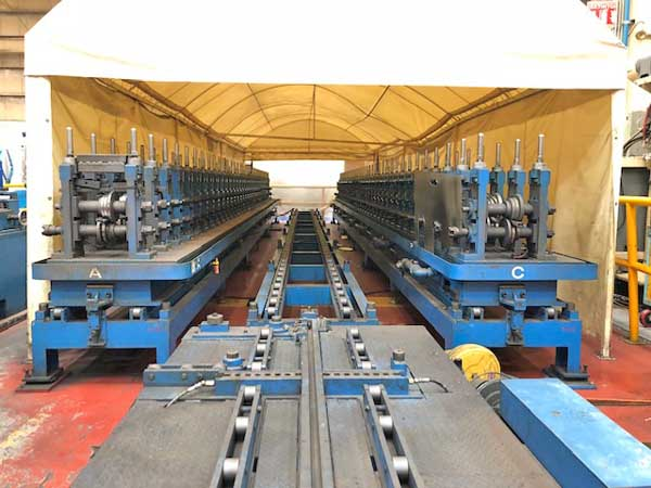 35 STND MORI MACHINERY ROLL FORMING LINE, 2004,