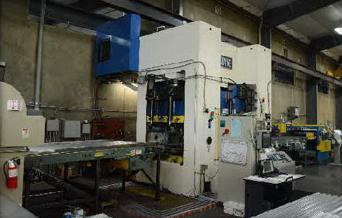 1500 Ton MACRODYNE Hydraulic Press, 16 Str, 32 Dylt, 144 x 54 Bed, 60 HP