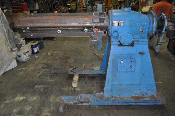 15,000 Lb LITTELL Uncoiler, 16 to 20 ID, 60 OD, 54 Width, Coil Car