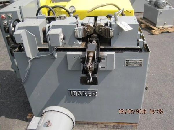 2 TESKER 175 2-Die Cylindrical Thread Roller, In or Thru Feed, 7-1/2 HP