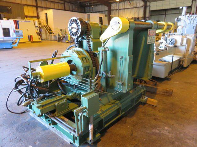 20,000 Lb PRODUCTION MACHINERY Motorized Uncoiler, 15 -21 ID, 72 OD, Coil Car