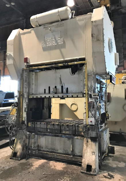 200 Ton BLISS Straight Side Press, 8 Str, 30 SH, 10 Adj, 72 x 42 Bed