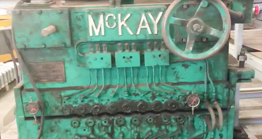 78 MCKAY Triple Backed Up Leveler, 9 Over 8, Entry Brush Rolls, 75 HP