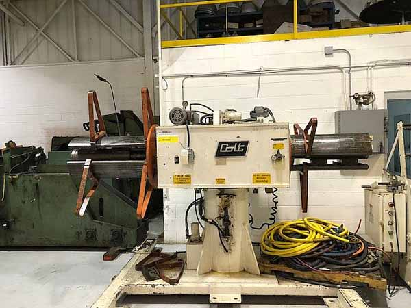 15000 Lb. COLT MODEL CHDPD-1500-30 DOUBLE END UNCOILER,