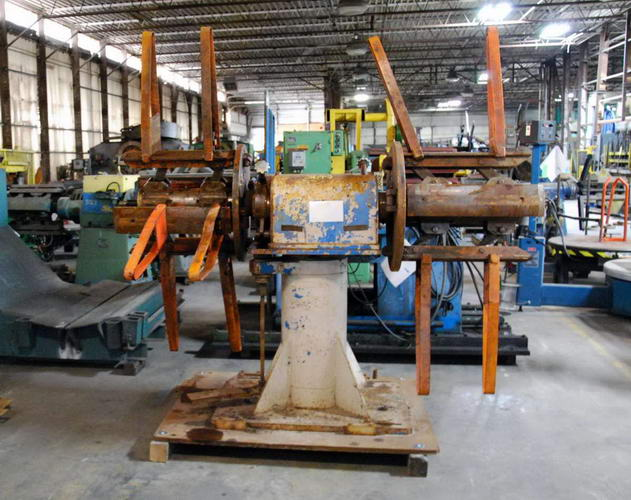 5,000 Lb CUSTOM Double End Uncoiler, 18 to 24 ID, 72 OD, 18 Width