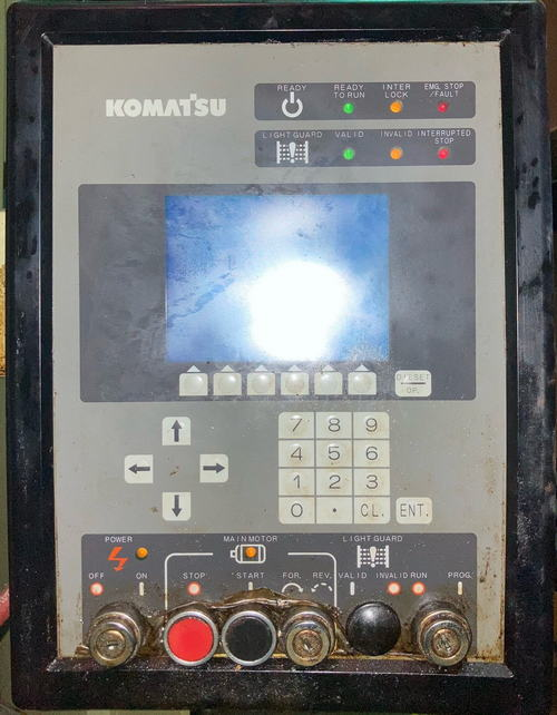 165 Ton KOMATSU MODEL OBW-150 DOUBLE CRANK GAP FRAME PRESS, 1988,
