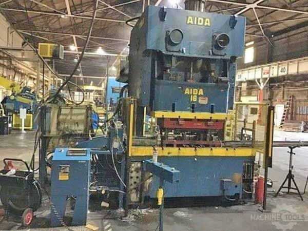 176 Ton AIDA MODEL C2-16(2) DOUBLE CRANK GAP FRAME PRESS,