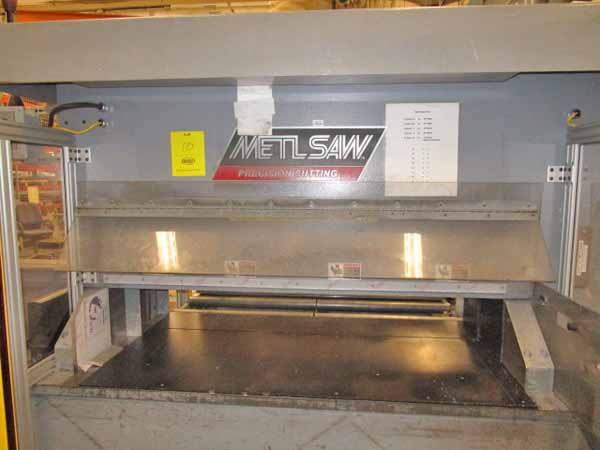 METLSAW MODEL CS-4 FULLY AUTOMATIC PROGRAMMABLE NON-FERROUS COLD SAW