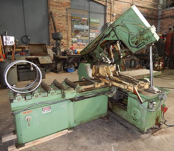 12 x 16 DOALL Horizontal Band Saw, 6' Support, 24 Feeder5 HP Band, 2 HP Hyd