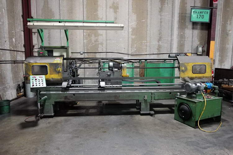 3 HAVEN 912A Double End Tube Finishing Machine, 10' Cut Length, Automatic Load
