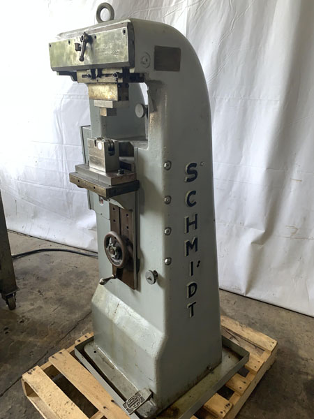 SCHMIDT Marking Machine, 4 Ton Pressure, 7 Lines @ 1/16 to 2 Lines @ 1/4 , 2 HP