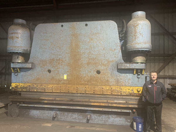 1000 Ton PACIFIC Hydraulic Press Brake, 170 Bet Hsgs, 12 Stroke, 75 HP
